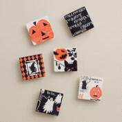 Vintage Poster Halloween Clips, 6-Pack