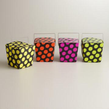 Foil Dots Zombie Punk Takeout Boxes, Set of 4