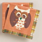 Owl Plaid Harvest Beverage Napkins, 20-Count