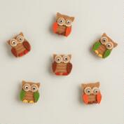 Owl Harvest Felt Clips, 6-Pack