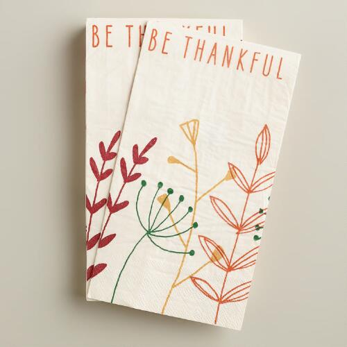 Be Thankful Guest Napkins, 20-Count