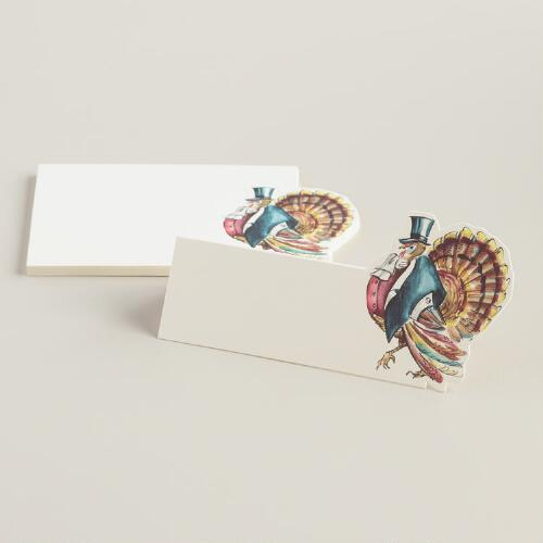 Mr. Turkey Kitchen Papers Place Cards, 12-Count