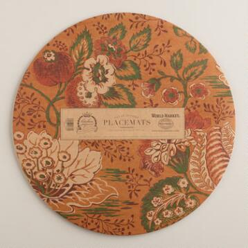 Round Pomegranate Kitchen Papers Kraft Placemats Book