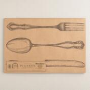 Fork, Knife and Spoon Kitchen Papers Kraft Placemats Book