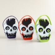 Green Zombie Punk Felt Baskets, Set of 3