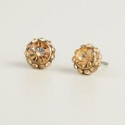 Faceted Colorado Topaz Stud Earrings