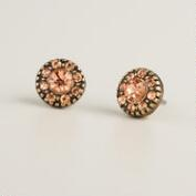 Blush Opal Stone Stud Earrings