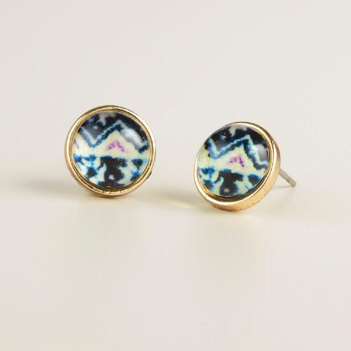 Tribal Print Stud Earrings