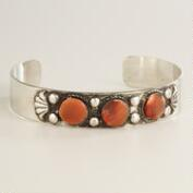 Silver Tribal Rust Beads Bracelet