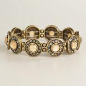 Blush Circles with Rhinestones Bracelet