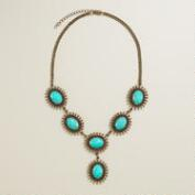 Gold Starburst Turquoise Necklace