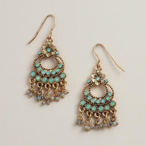 Small Pacific Opal Chandelier Earrings