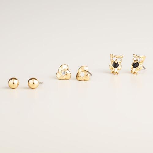 Wander Lost Stud Earrings, Set of 3