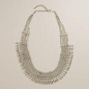 Silver Tribal Statement Necklace