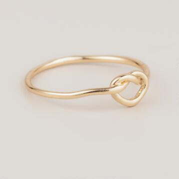 Gold Knot Midi Ring