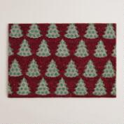 Christmas Trees Coir Doormat