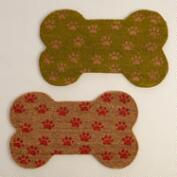 Dog Bone-Shaped Coir Doormat