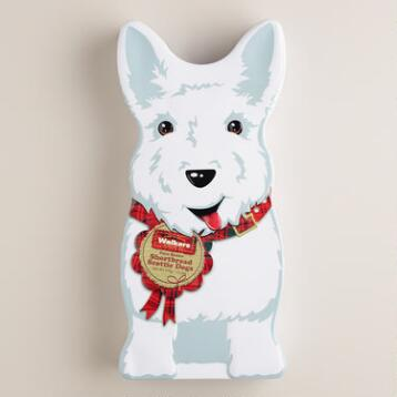 Walkers Shortbread White Scottie Dog Tin