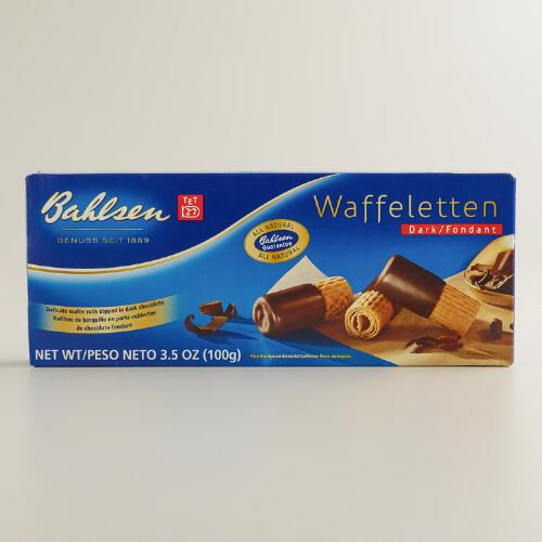 Bahlsen Waffeletten Dark Chocolate Cookies, Set of 4