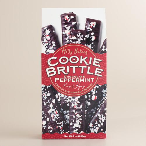 Holly Baking Chocolate Peppermint Cookie Brittle