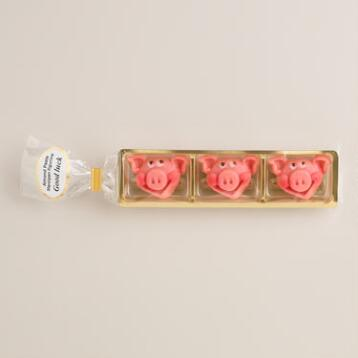 Odenwalder Marzipan Pig Candy, Set of 2