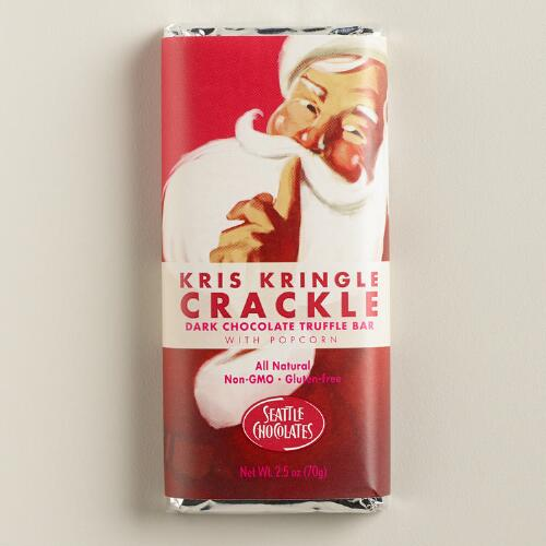 Seattle Chocolates Kris Kringle Crackle Chocolate Bar