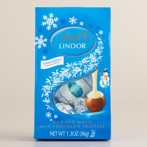 Lindt Milk and White Chocolate Holiday Truffles, Set of 6