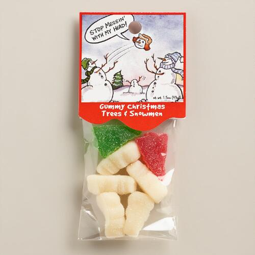 Heritage Trees and Snowmen Gummy Candy, Set of 6