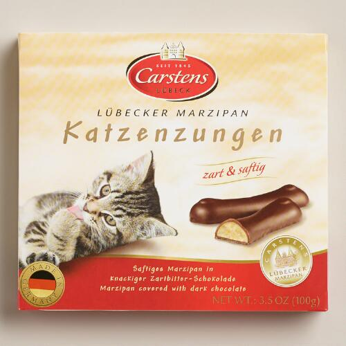 Marzipan and Chocolate Cat Tongues, Set of 2