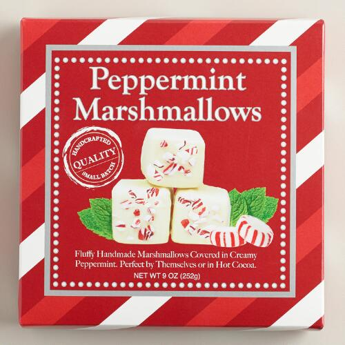 White Chocolate Peppermint Candy Cane Marshmallows