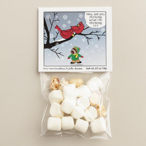 Mini Marshmallow and Jellybean Bag with Header Card Set of 6