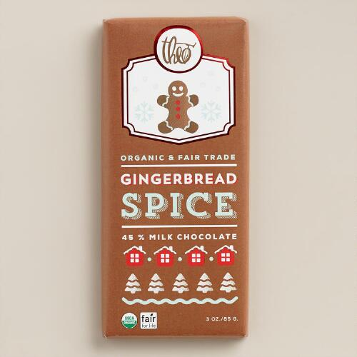 Theo Gingerbread Spice Milk Chocolate Bar, Set of 2
