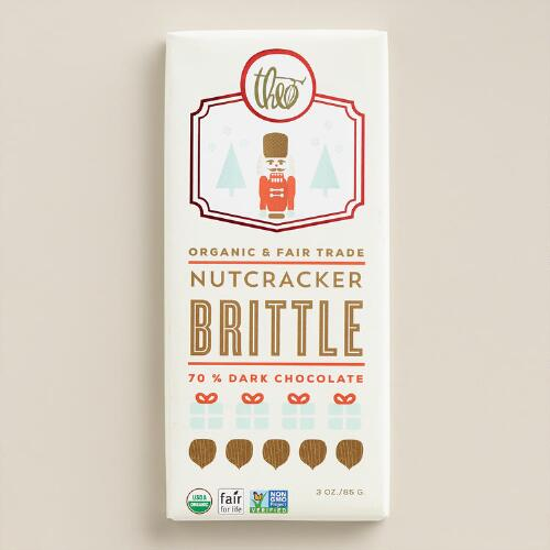 Theo Nutcracker Brittle Dark Chocolate Bar, Set of 2