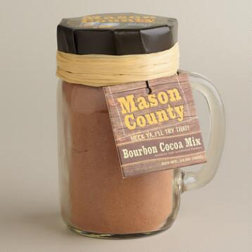 Bourbon-Flavored Cocoa in a Mason Jar