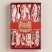 White Chocolate Peppermint Hot Cocoa Stirrer Gift Set