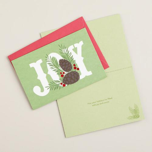 Joy Boxed Holiday Cards,  Set of 15