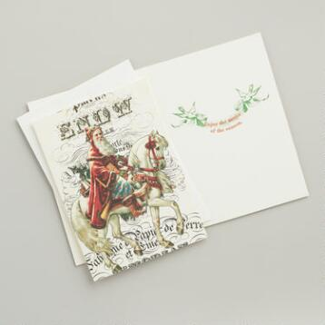 Santa Claus Boxed Holiday Cards, Set of 15