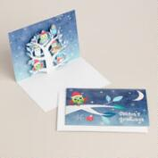 Christmas Owls Boxed Holiday Cards, Set of 8