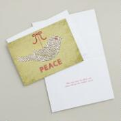 Newspaper Peace Dove Boxed Holiday Cards, Set of 15