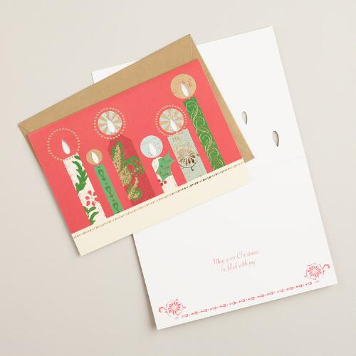 Buon Natale Candles Boxed Holiday Cards, Set of 15