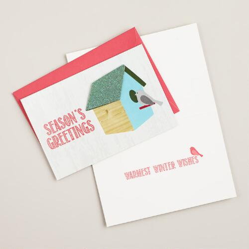 Snowbird Birdhouse Boxed Holiday Cards, Set of 15