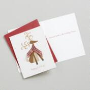 Reindeer with a Scarf Boxed Holiday Cards, Set of 15