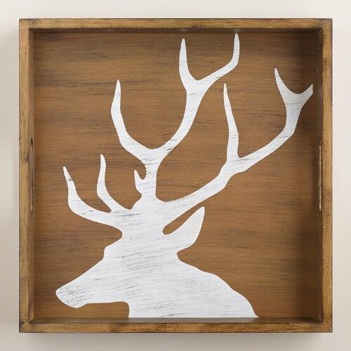 Wood Stag Tray