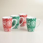 Buon Natale Marrakesh Mugs, Set of 4