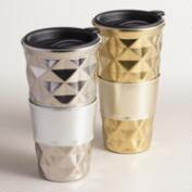Quilted Porcelain Non-Paper Cups, Set of 2
