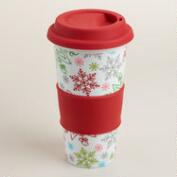 Snowflake Porcelain Non-Paper Cups, Set of 2