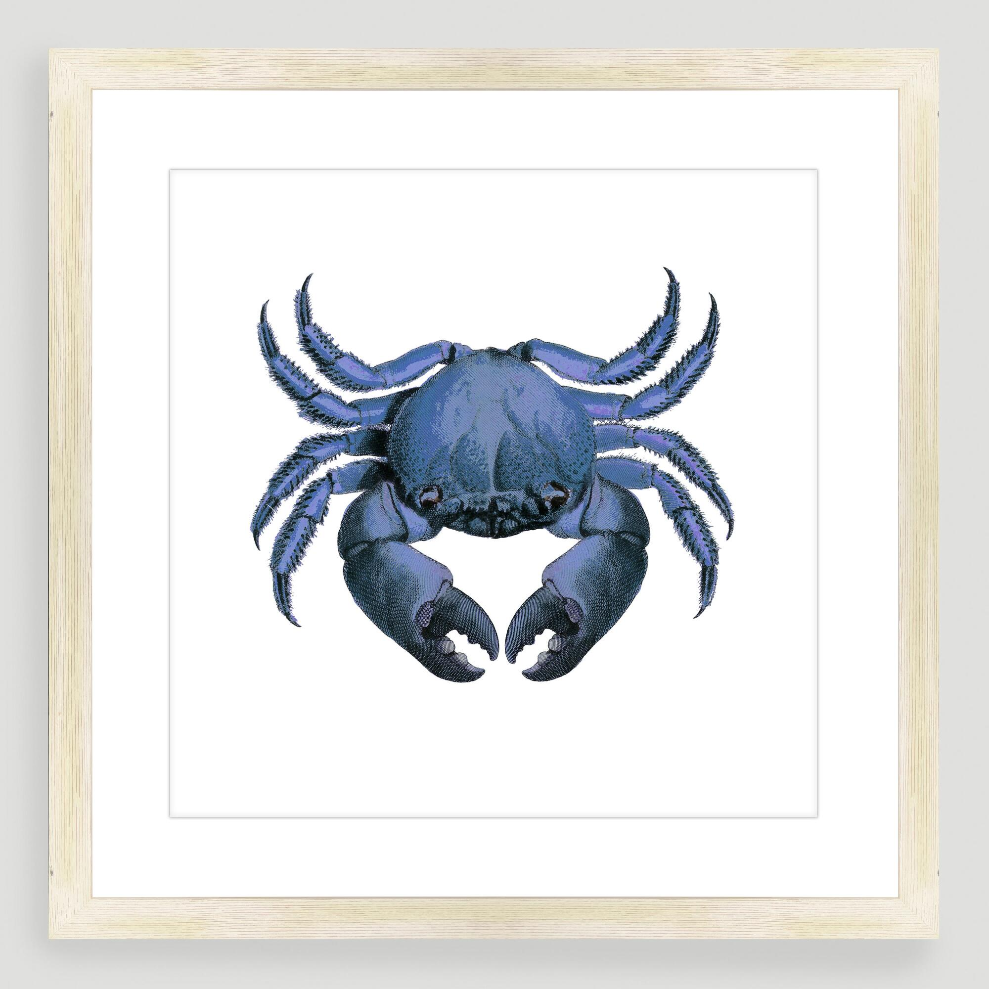 Vintage style crab sea life wall art world market - Vintage inspired wall art ...