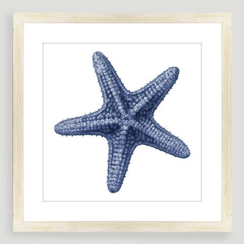 Vintage-Style Starfish Sea Life Wall Art