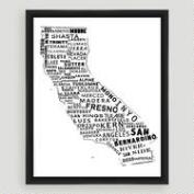California Typography Wall Art