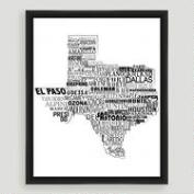 Texas Typography Wall Art